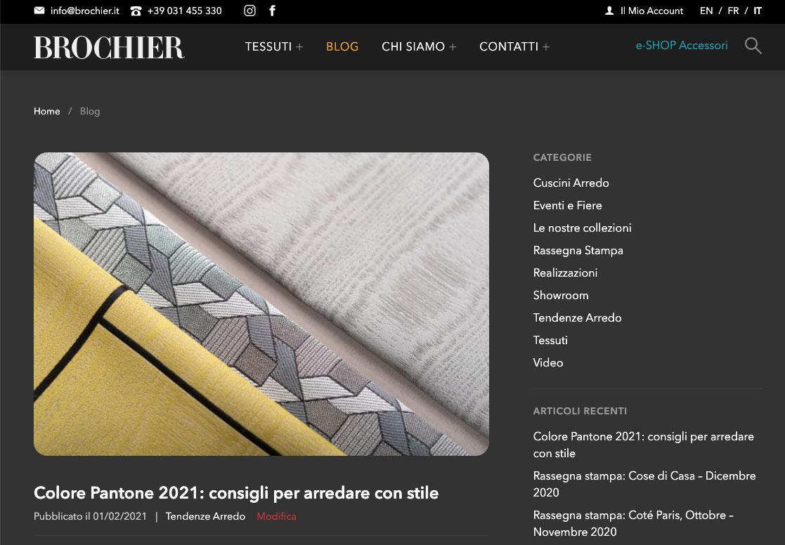 Sito web BROCHIER | Realizzato da COMCEPT Srl
