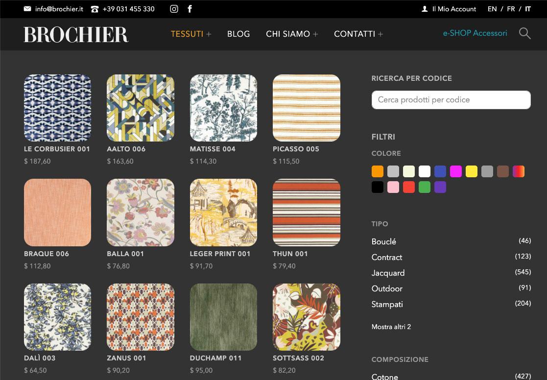 Catalogo prodotti BROCHIER | realizzato da COMCEPT Srl