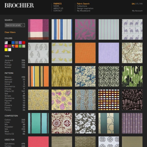 realizzazione sito web e catalogo online azienda tessuti como
