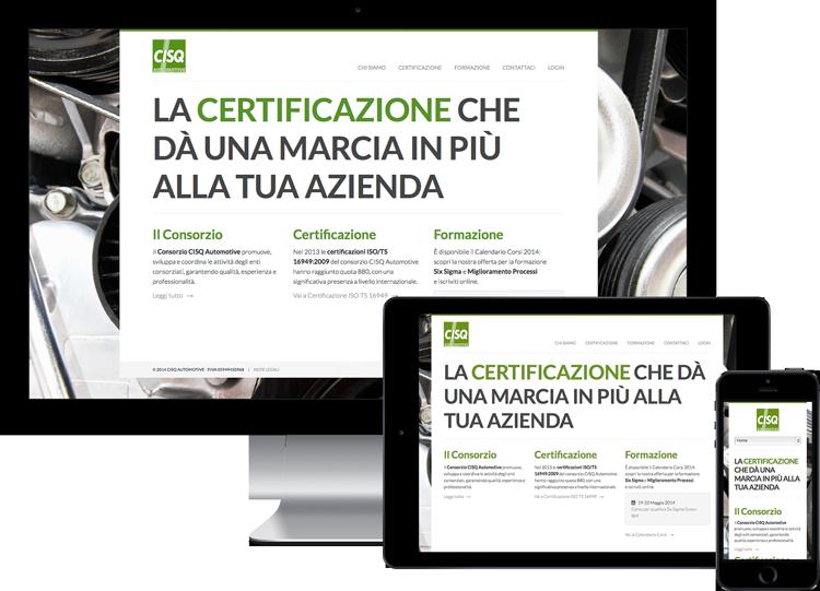 Realizzazione siti internet e web app a Milano, Monza e Brianza per enti di formazione, certificazione, società di consulenza sistemi gestione aziendale