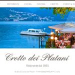 realizzazione siti web ristoranti como: Crotto dei Platani - Ristorante Lago di Como