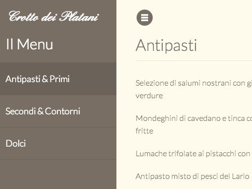 realizzazione siti internet con menu e carta vini ristoranti lago di como