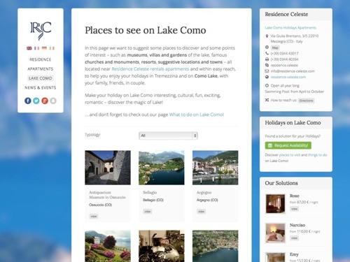 realizzazione sito internet alberghi lago di como