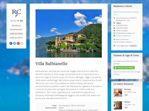 sito web multilingue residence lago di como