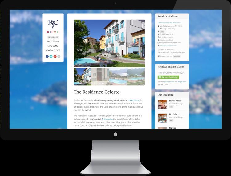 sito web per residence sul lago di como